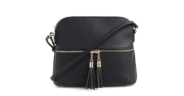 Tassel Charm Crossbody Purse