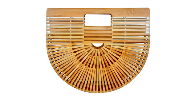 Summer Bamboo Half Moon Bag