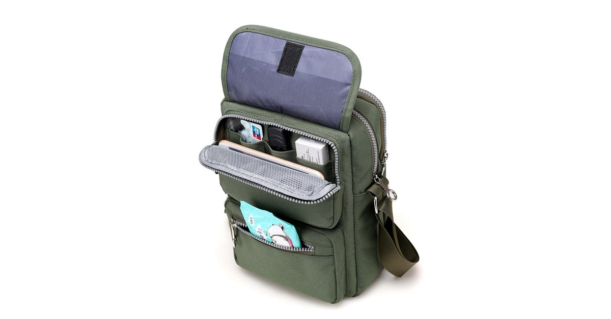Multi-Pocket Messenger Bag