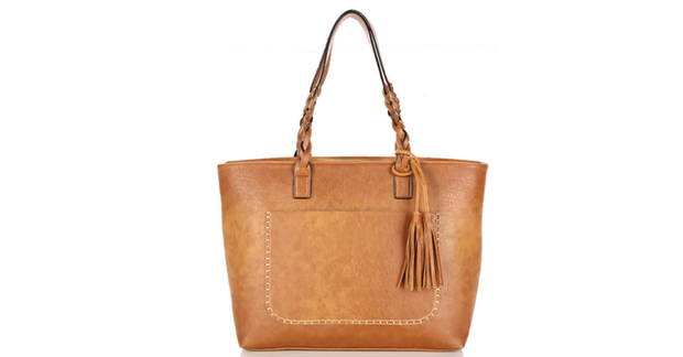 Women's Leather Shoulder Tote Bag