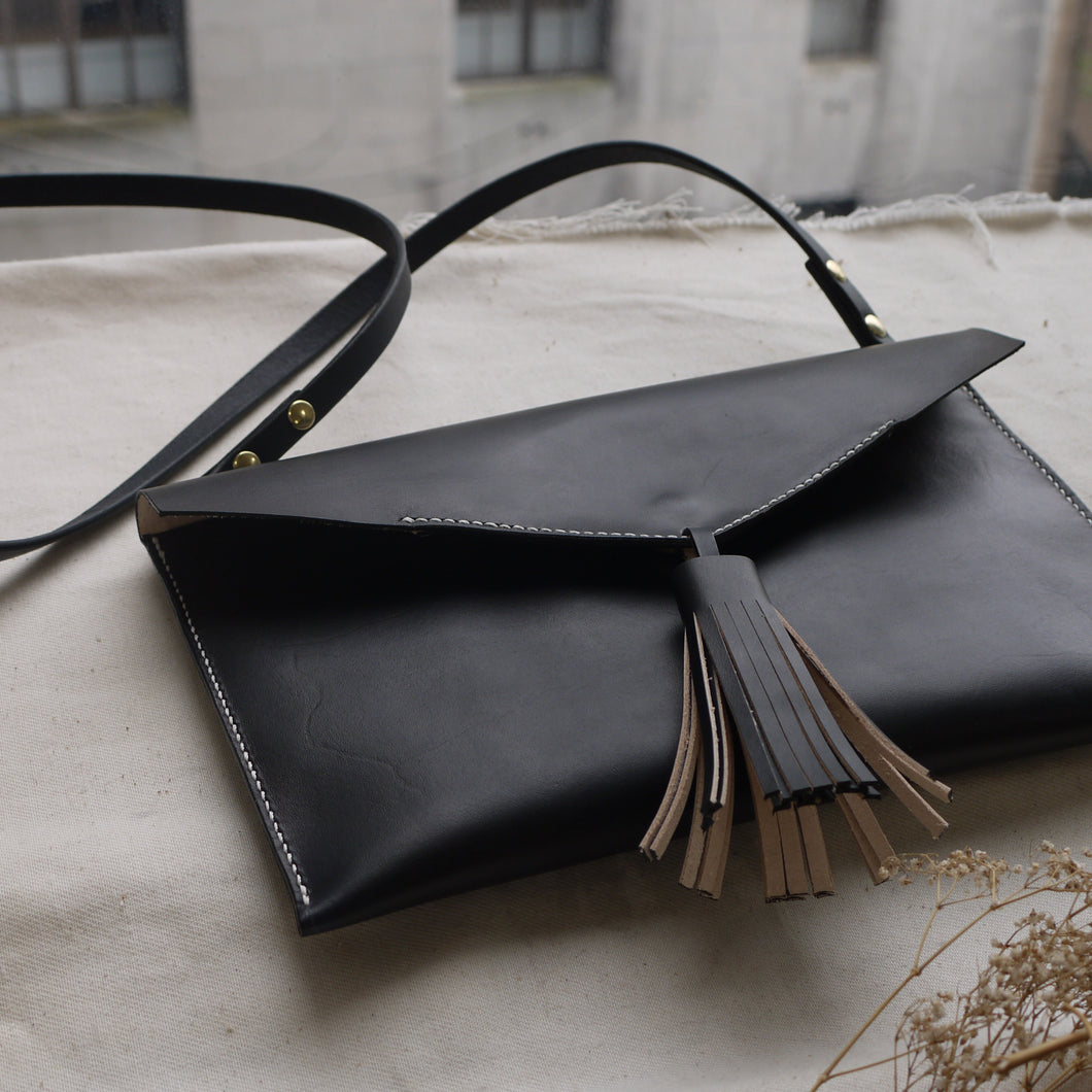LOTTIE - Statement Tassel Leather Handbag
