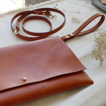 leather bag, leather clutch, handmade leather. Tori Lo Designs