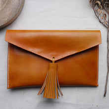 REGGE - Oxblood Leather Clutch