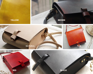 TAMMIE II - Choose your own Colour - Leather Satchel with Pocket