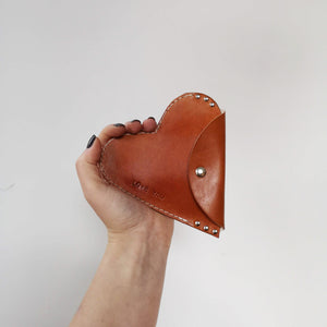 HARPER - Heart Leather Coin Purse