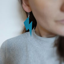Leather Lightening Drop Earrings