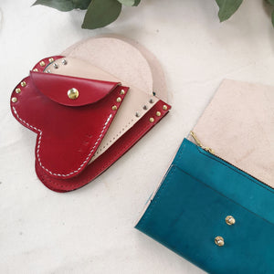 HARPER XS - Heart Leather Coin Purse
