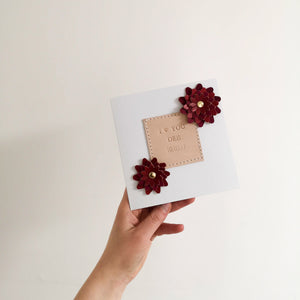 Personalised Flower Card
