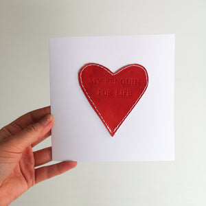 Personalised Leather Love Card