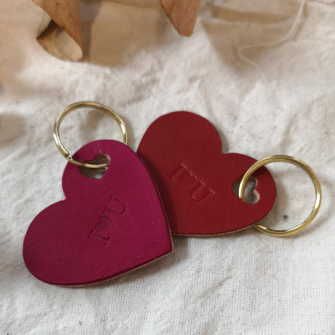 Lola - Personalised Heart Keyring