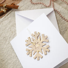 Foiled Leather Snowflake Christmas Decoration & Card