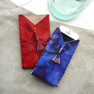 PAR II - Tie Dye Leather Tassel Phone Case
