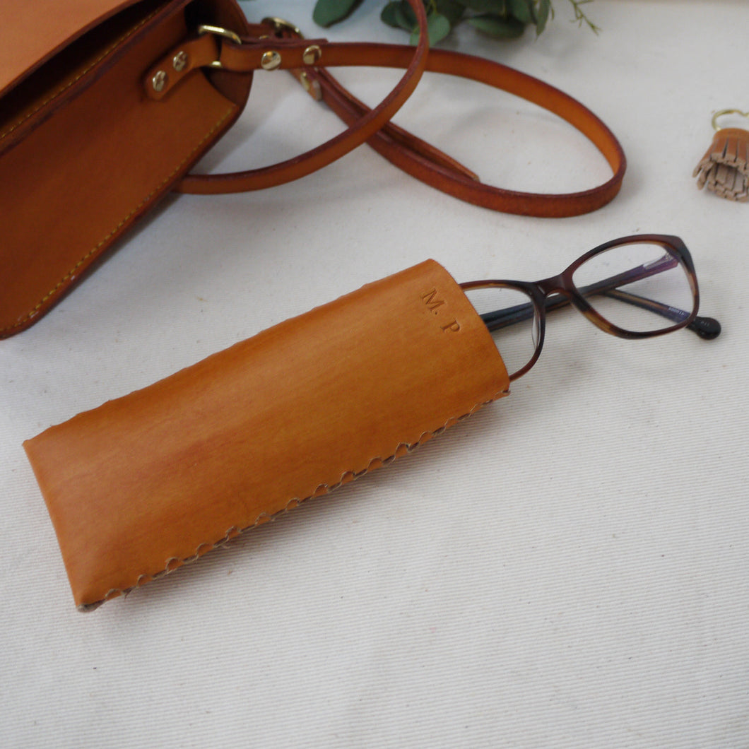 MAUDE - Personalised Leather Glasses Case