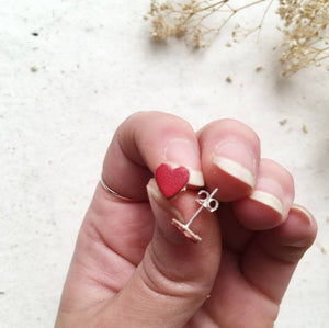 RUBZ - Set of 3 Leather Heart Studs