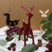 Rudi - Personalised Leather Reindeer Christmas Decoration