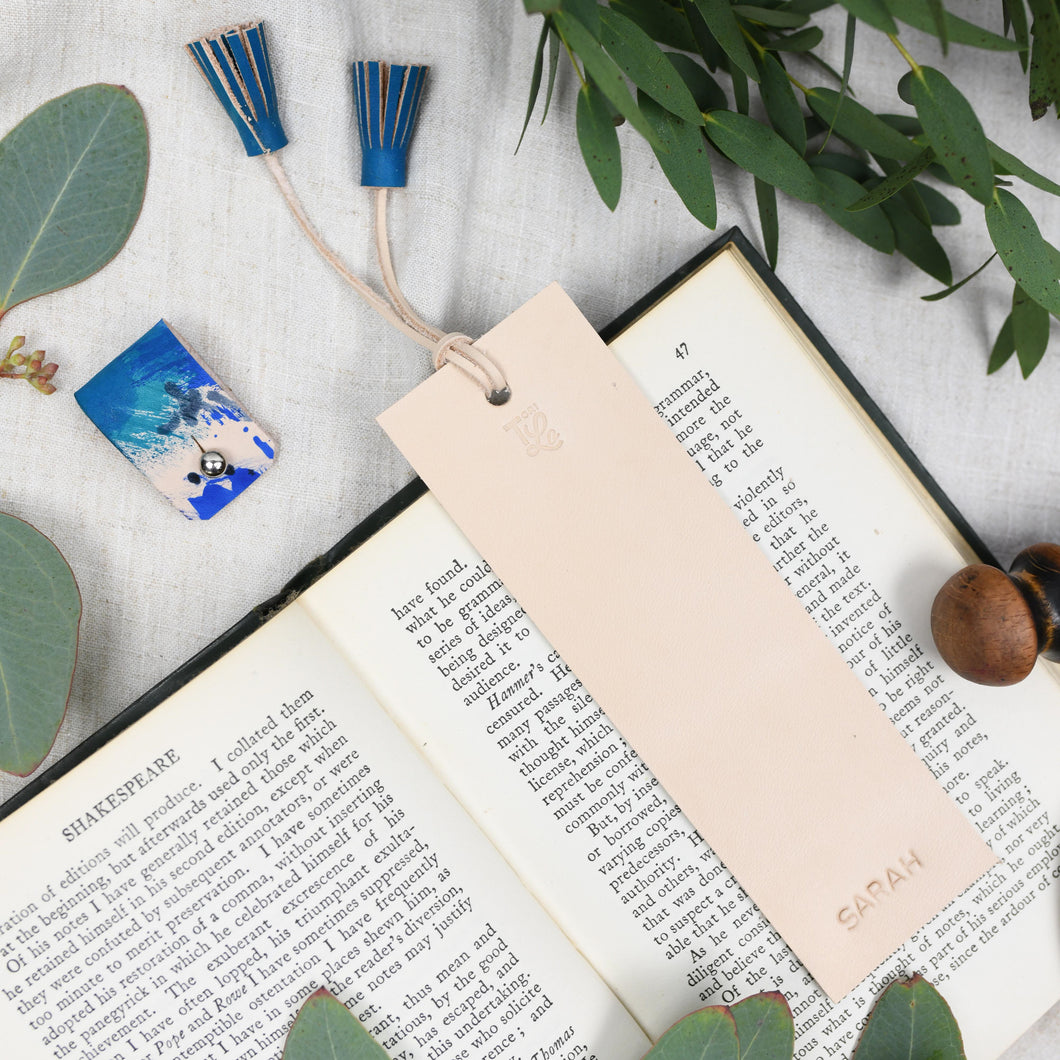 BRONTE - Personalised leather bookmark