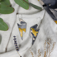 Bolt - Slate Brush - Lightning Bolt Drop Earrings