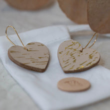 Libby - Gold Spark - Heart Drop Earrings