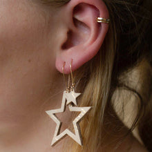 Starre - Gold Spark - Large Cut out Star Drop Earrings