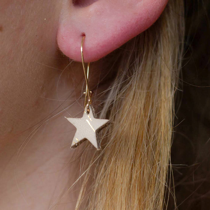 Starre - Gold Spark - Small Star Drop Earrings