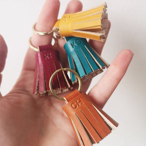 SAM - Personalised Small Tassel keyring