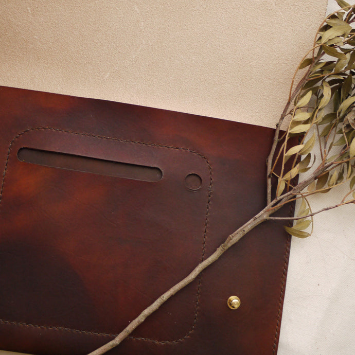leather iPad case, leather bag, handmade leather, tori lo designs