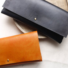 leather clutch bag, bag for the races, handmade leather. tori lo designs