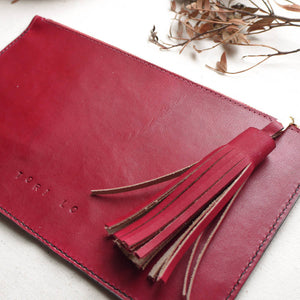 RHODA MID - Tassel Clutch Bag