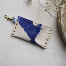 CODI II - Tie dye leather keyring card holder