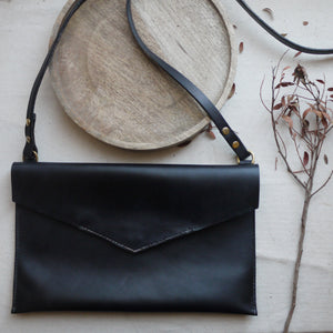VEX - Black Leather Crossbody