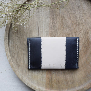 ZOE - Personalised Leather Striped Coin Purse