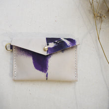 ZOE II - Small Leather Tie Dye Purse with D Ring