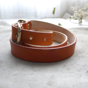 FLYN II - Leather and Brass Belt
