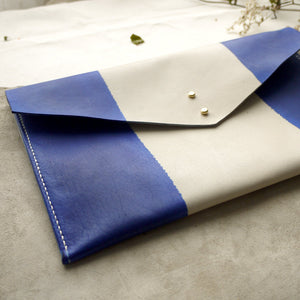 TYDE - Wide stripe envelope clutch