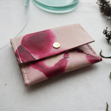 LAYLA - Tie dye leather coin and card purse