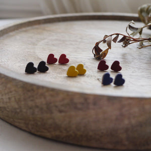 RUBZ - Small Leather Heart Studs