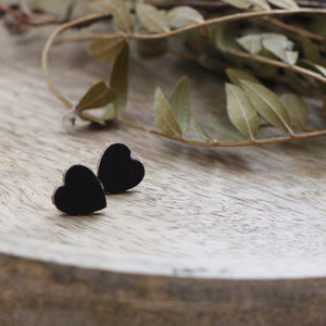 RUBZ II-  Large Leather Heart Earrings