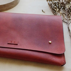 leather iPad case, handmade leather case, tori lo designs