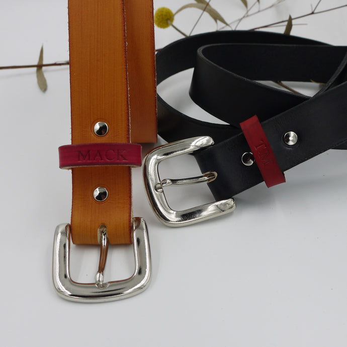TOM - Two Tone customised leather belt