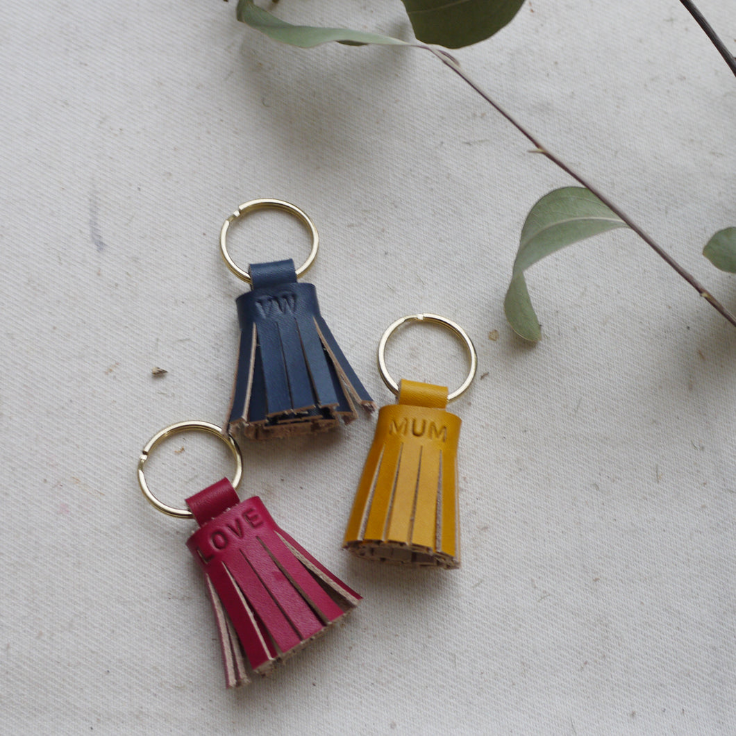 SAM- Personalised Small Tassel keyring