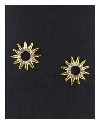 Ladies fashion stud earrings w/rhinestones