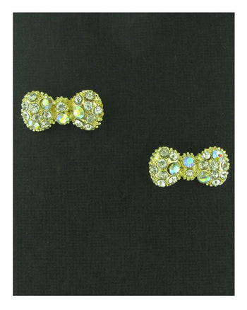 Rhinestone bow earrings