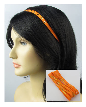 Ladies 5 pcs head band w/decorative studs