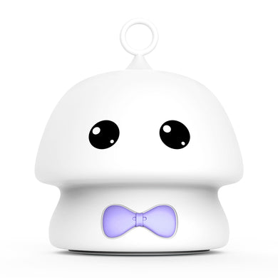 Violet Bowtie Moocoo 7 Colors Silicone Soft Cartoon Lamp Night Light