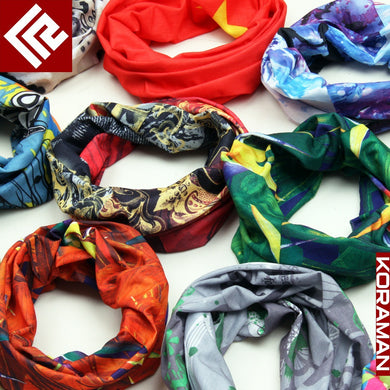 Seamless Multi-Functional Magic Scarf Riding Sunscreen UV Mask Thermal Amazing Skull Scarf