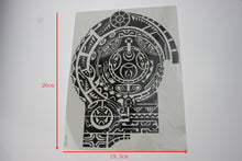 Chest Waterproof Turtle Shell Totem Tattoo Fake Sticker Prothorax Big 3D Disposable Tattoo Body Art For Men New Fashion