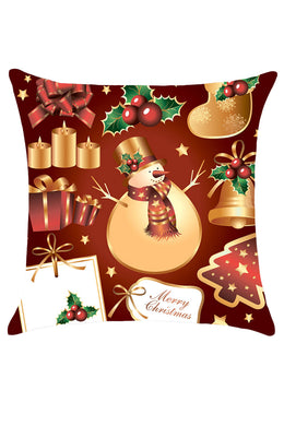 Christmas Decorations Pattern Throw Pillow Case