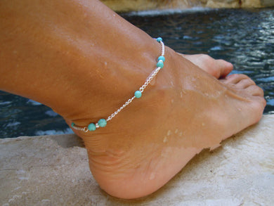 Women Anklets Simple Heart Barefoot Crochet Sandals Foot Jewelry Two Layer Foot Legs Bracelet Anklets
