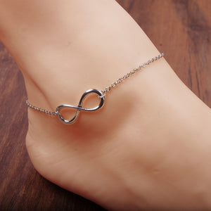Barefoot Sandals Anklet Chain Girl Silver Gold Heart Foot Bracelets Fashion Jewelry for Women Barefoot