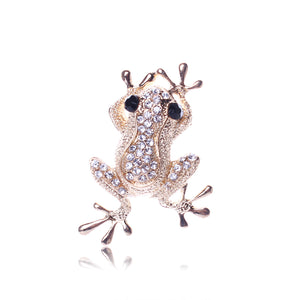 Frog Design Rhinestone Women Brooches and Pins